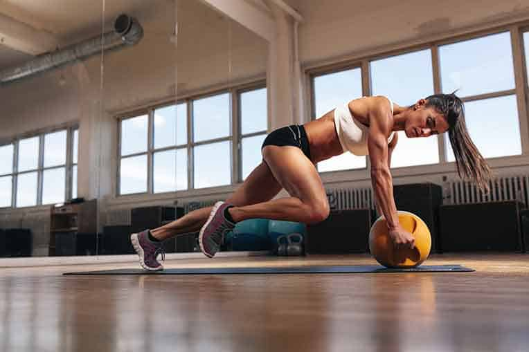 fit woman resistance training