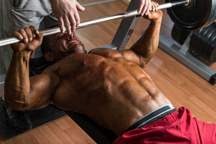 Mn bench pressing muscle failure