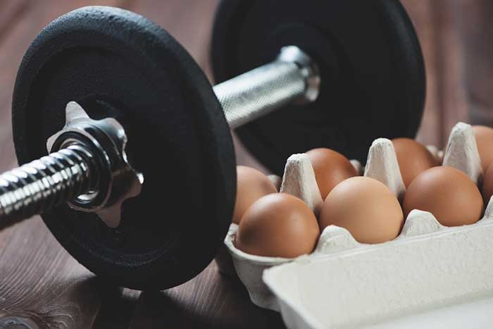 bulking up with eggs