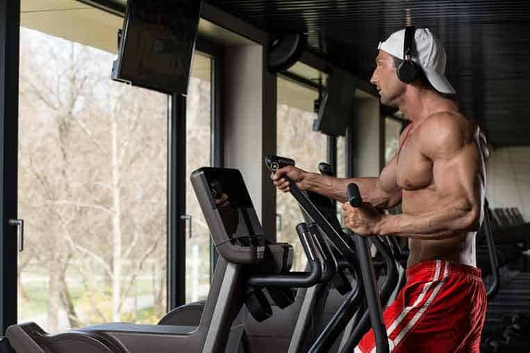 Bodybuilder cutting fat