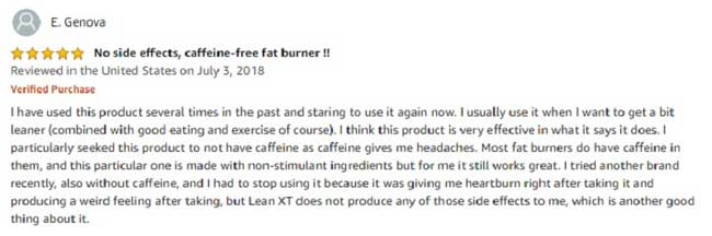 a good customer review for Lean-XT