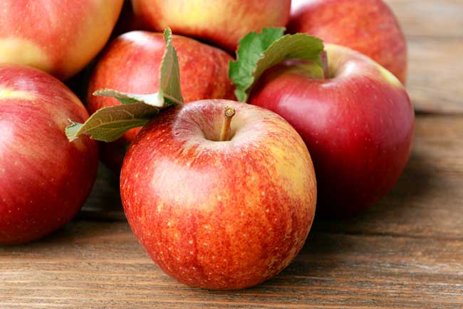 Apples are good to eat after a workout