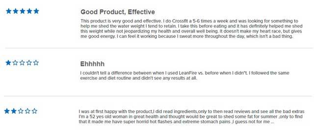 LeanFire XT customer comments